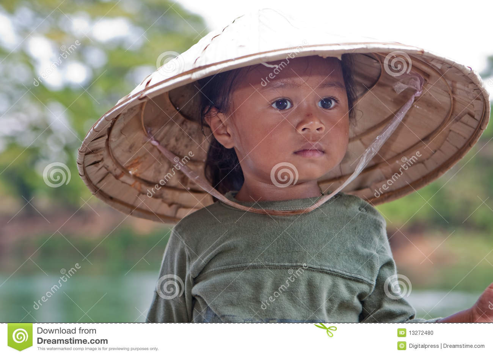 Muchacha del retrato de Asia