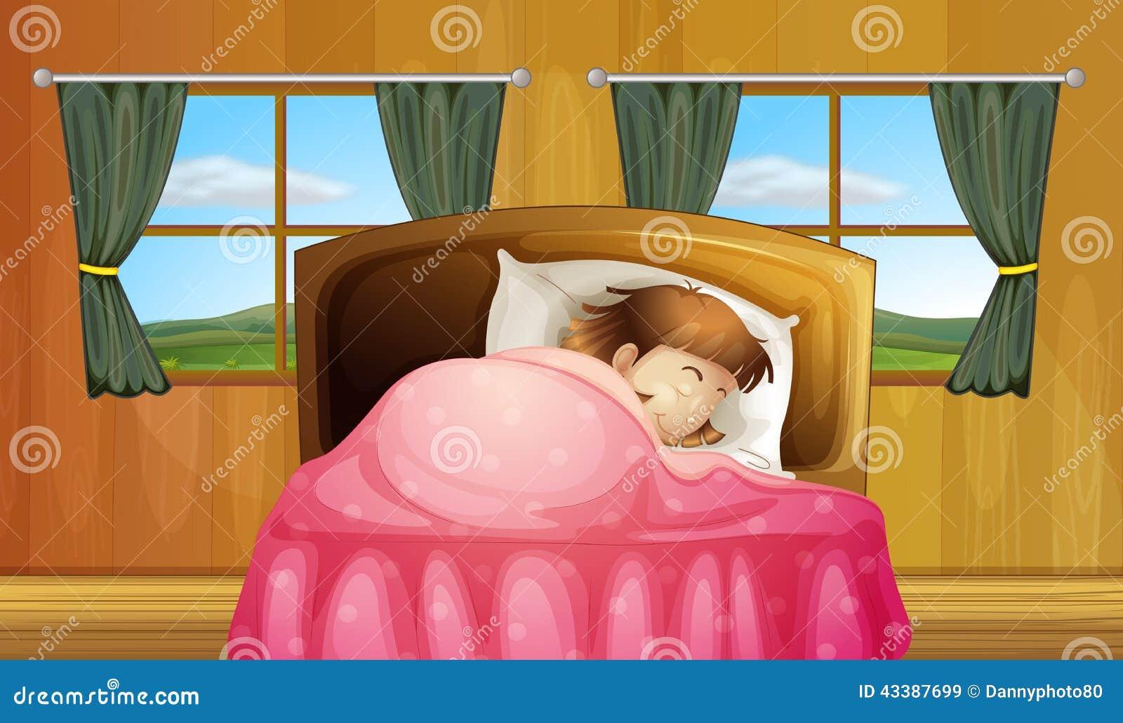 Muchacha en cama