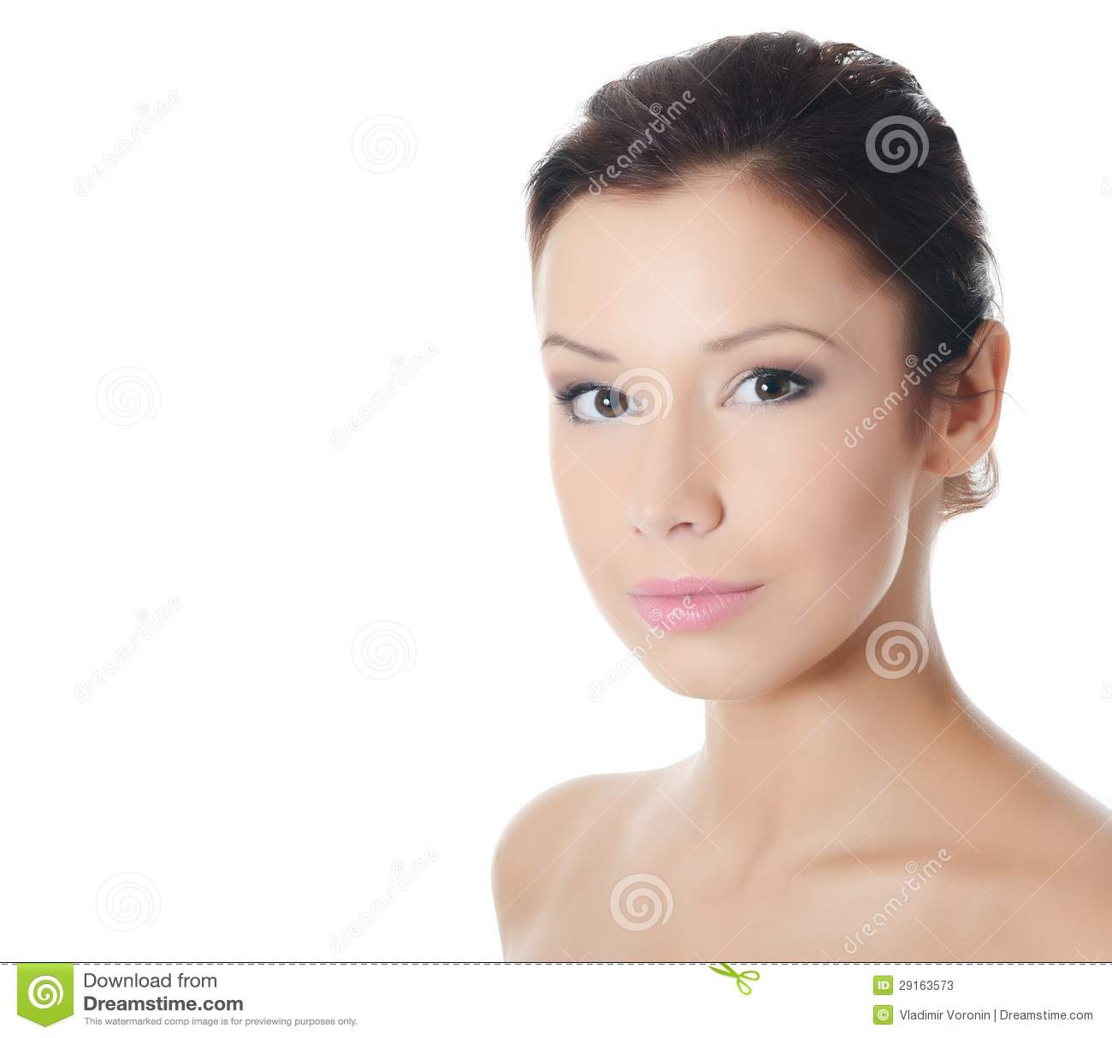 Muchacha hermosa joven con maquillaje