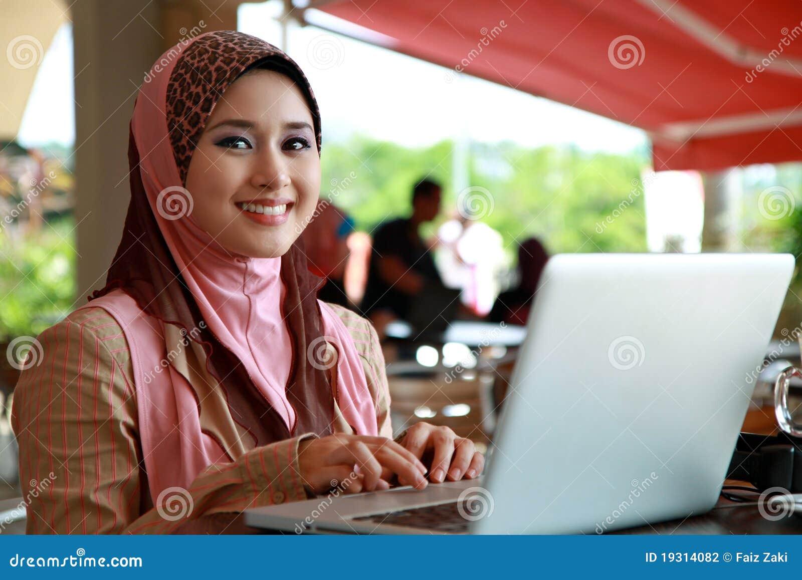 Muchacha musulmán hermosa