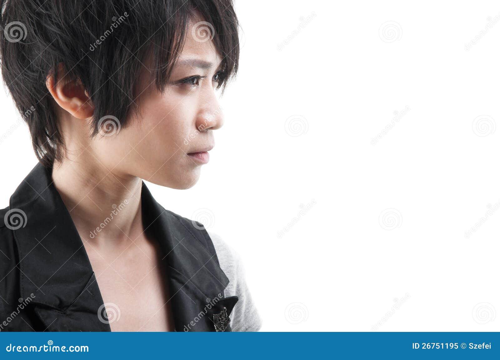 Muchacha punky asiática