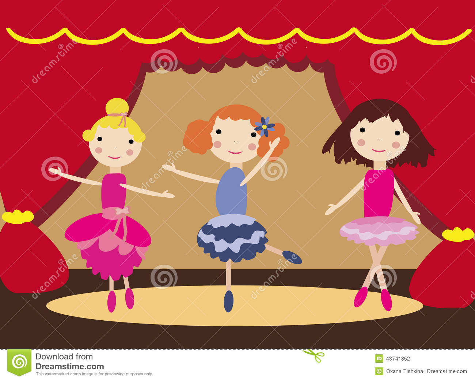 Muchachas de baile en teatro de ballet