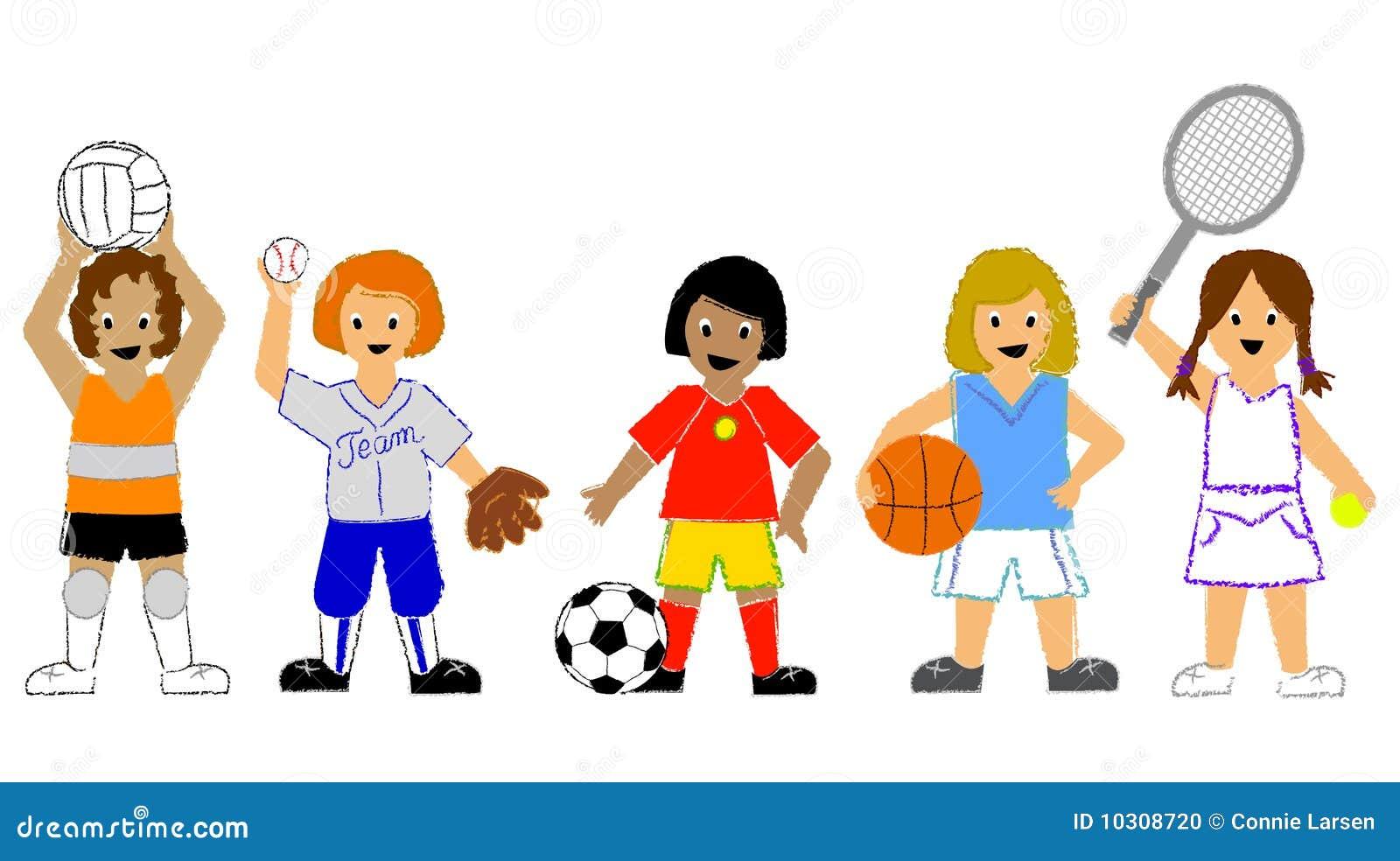 Muchachas de los deportes
