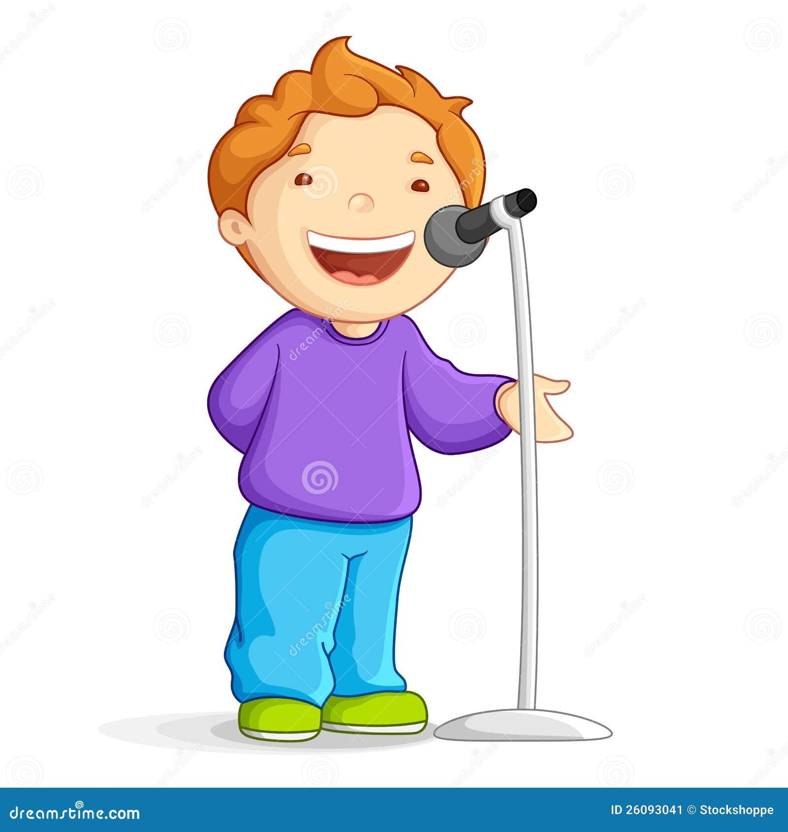 Muchacho de escuela cantante