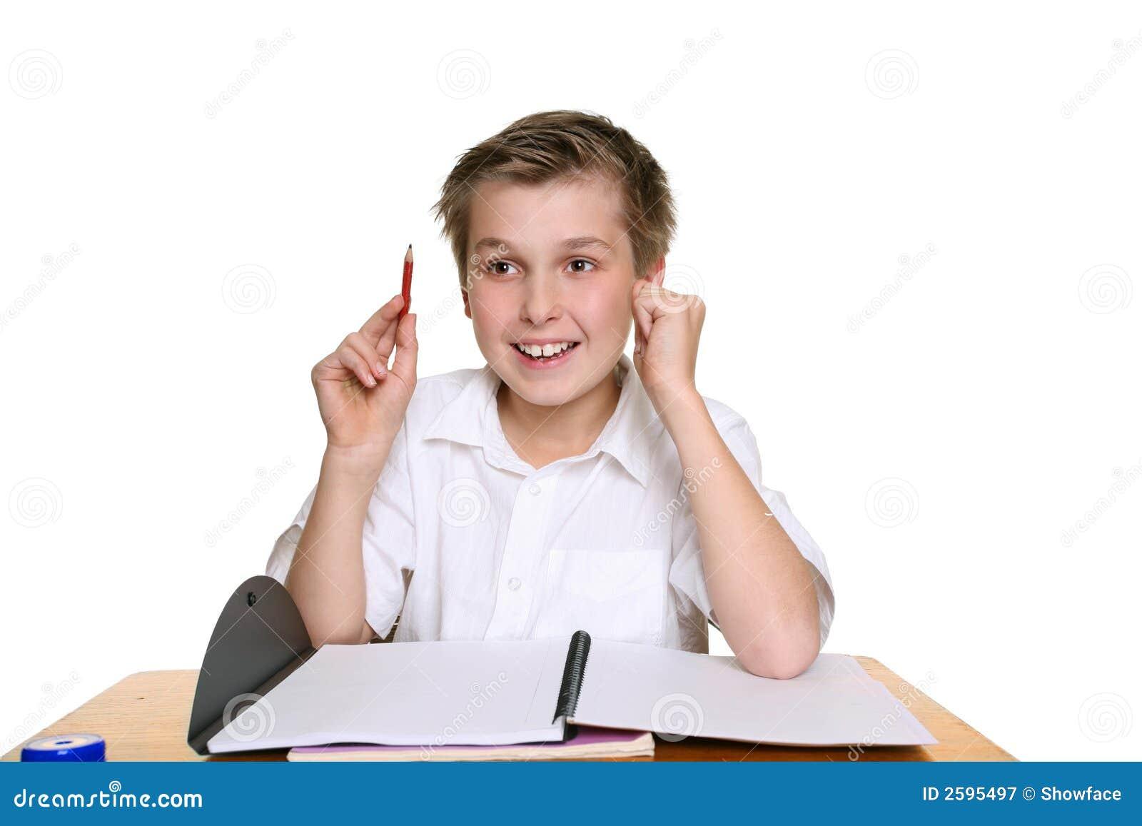 Muchacho de escuela feliz brillante
