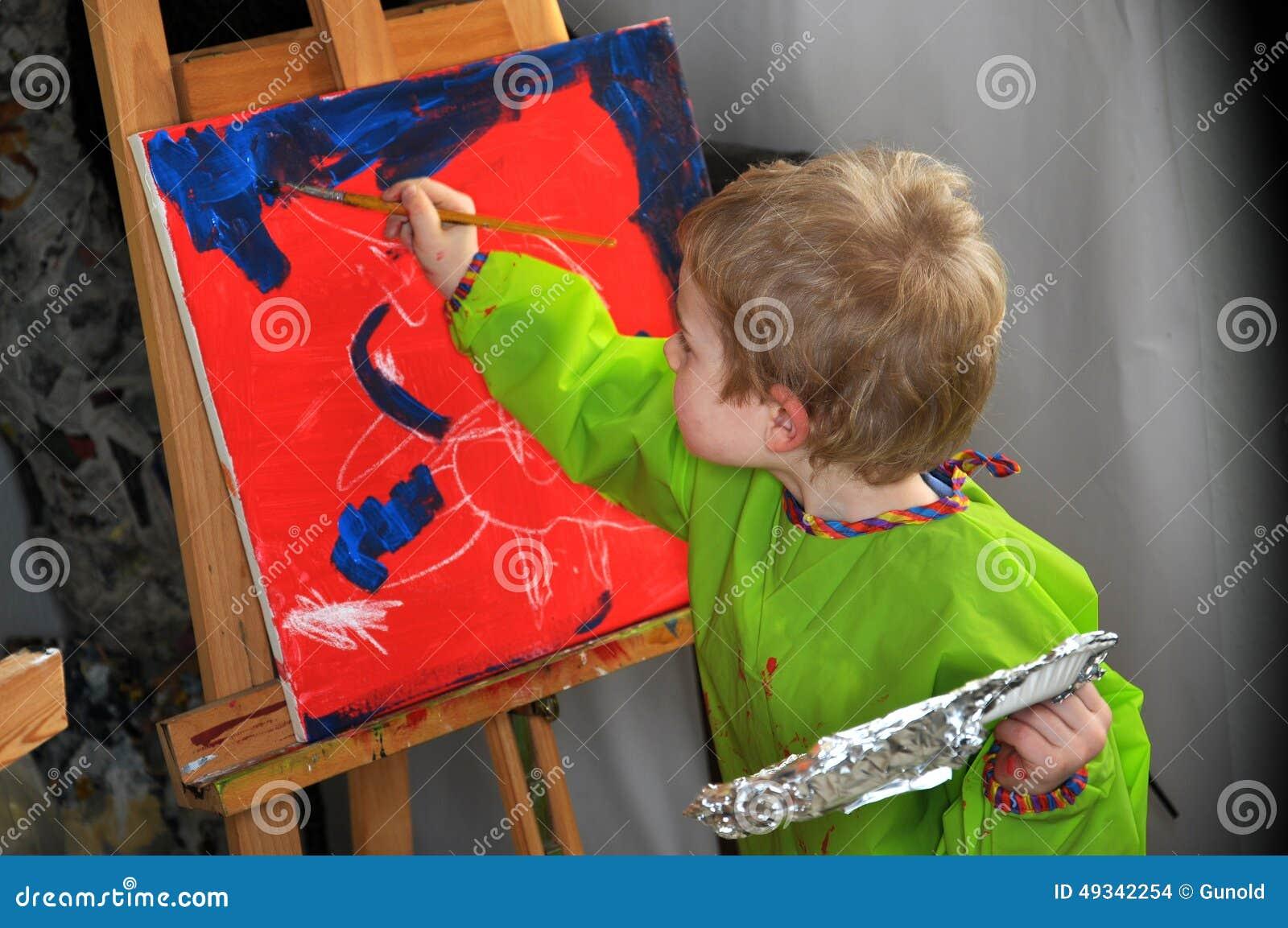Muchacho de la pintura