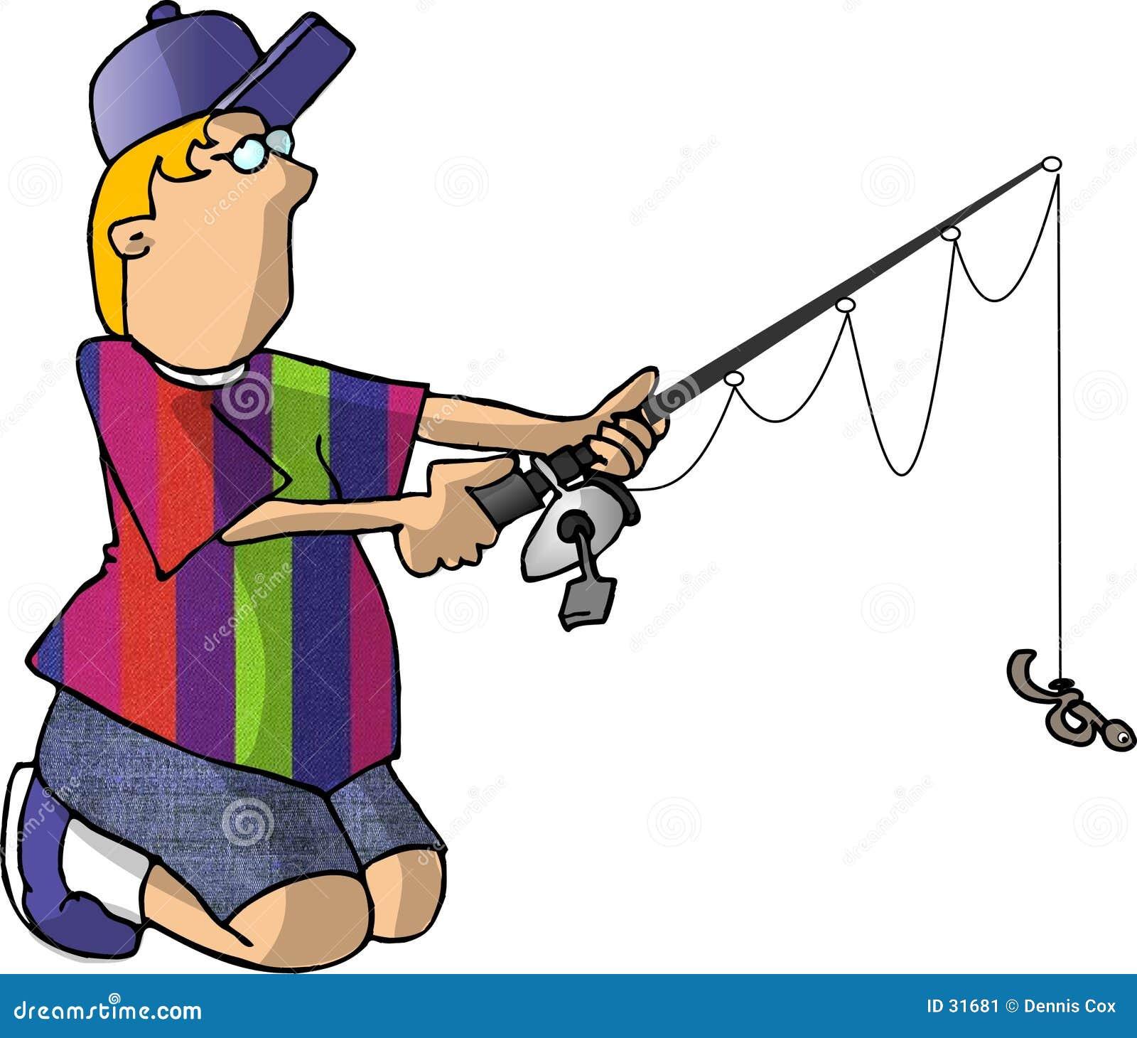 Download Muchacho que pesca 2 stock de ilustración. Ilustración de muchacho - 31681