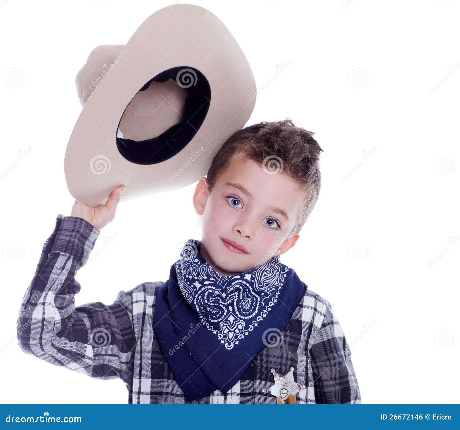 Muchacho Vestido Como Vaquero Foto De Archivo Imagen De