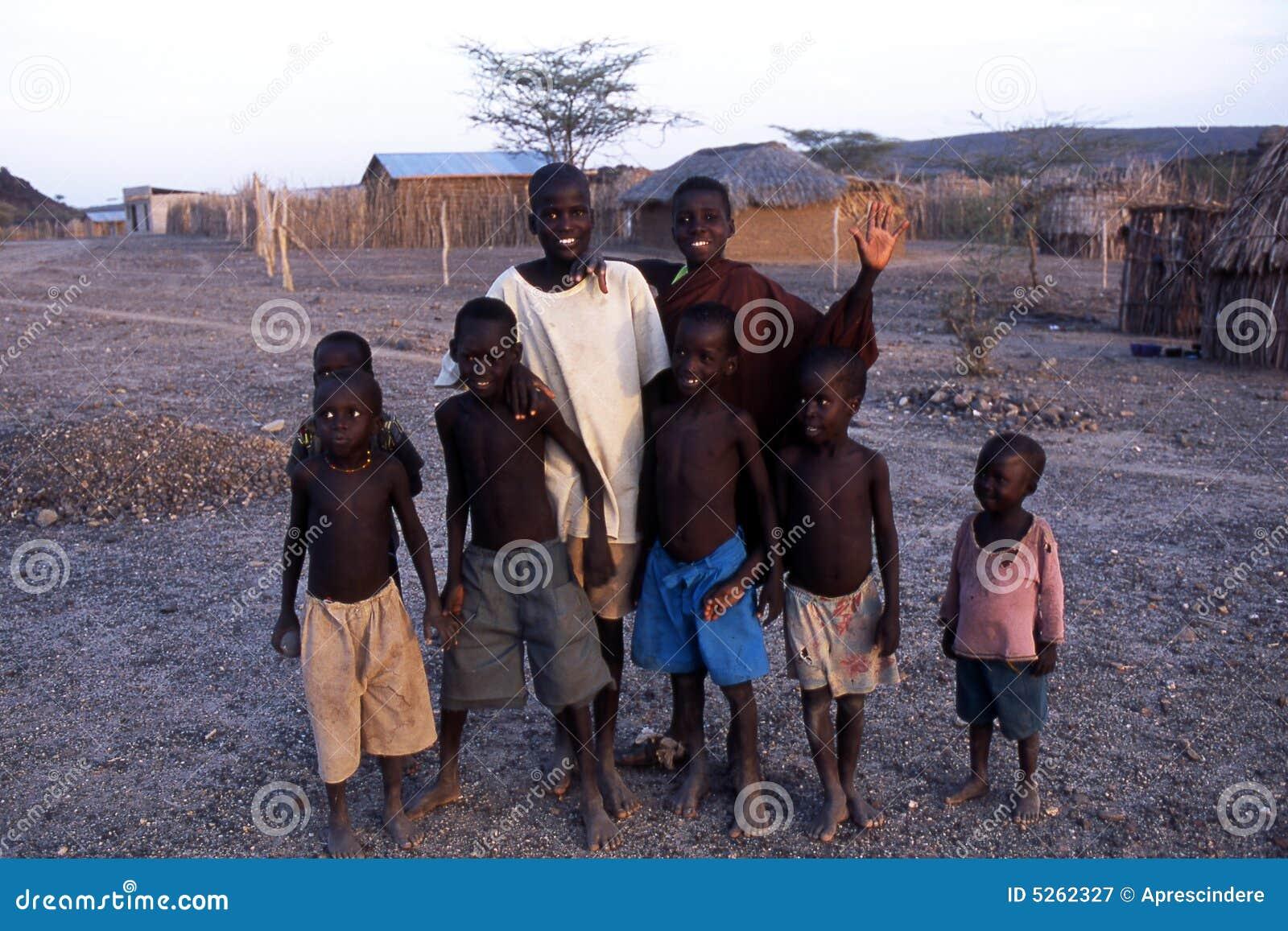 Muchachos africanos