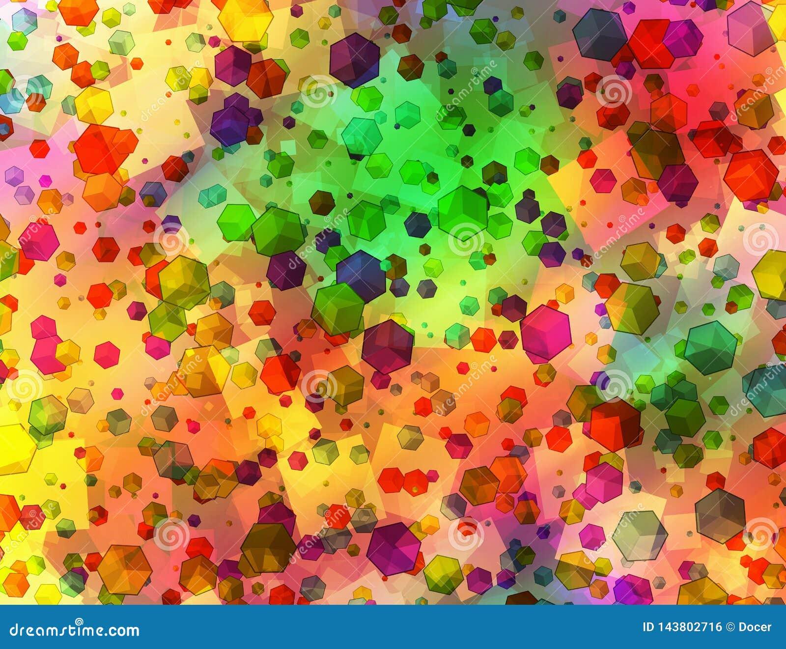 Muchas figuras geom?tricas abstractas multicoloras fondo