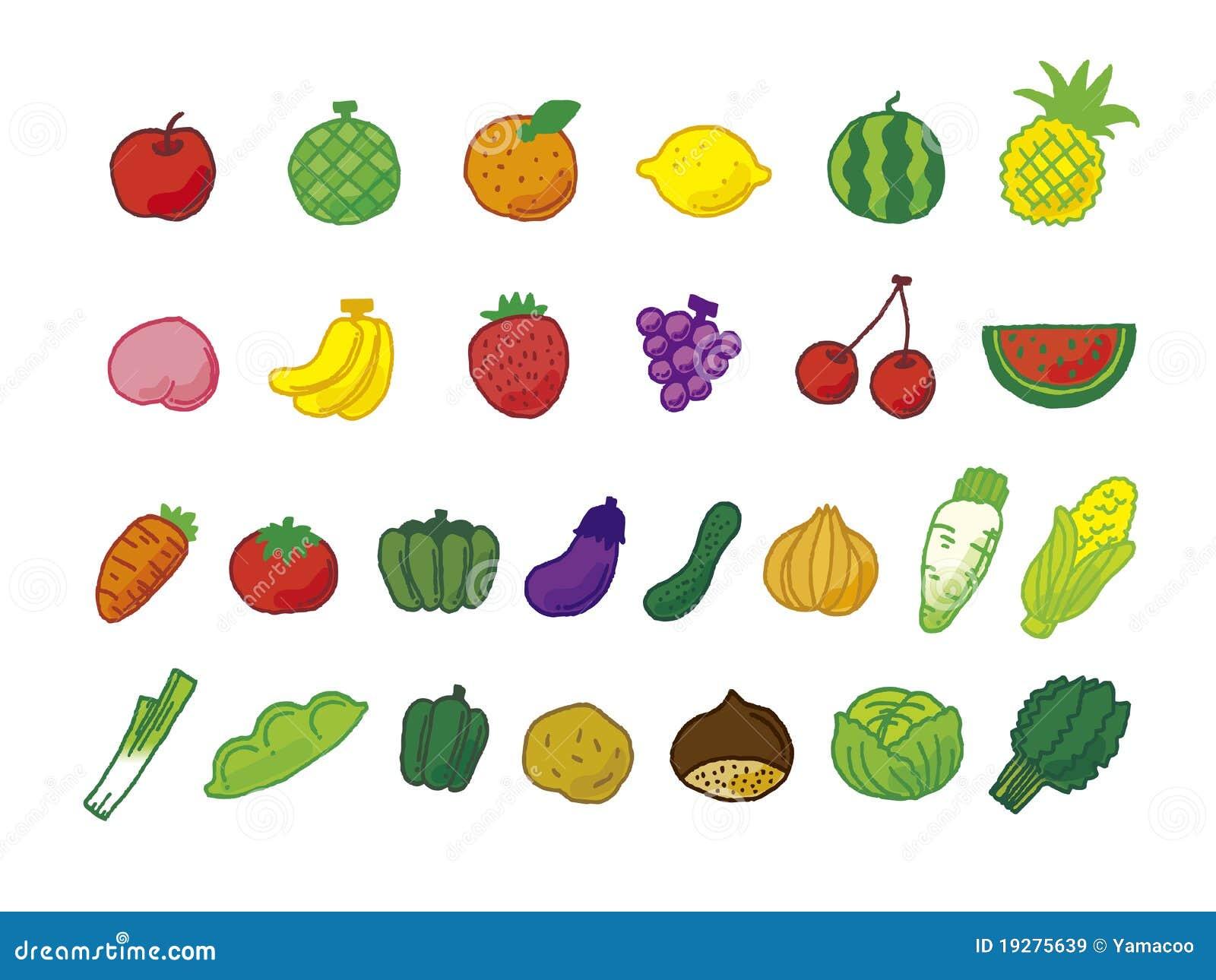 Muchas legumbres de fruta ilustraci n del vector imagen - Semillas de frutas y verduras ...