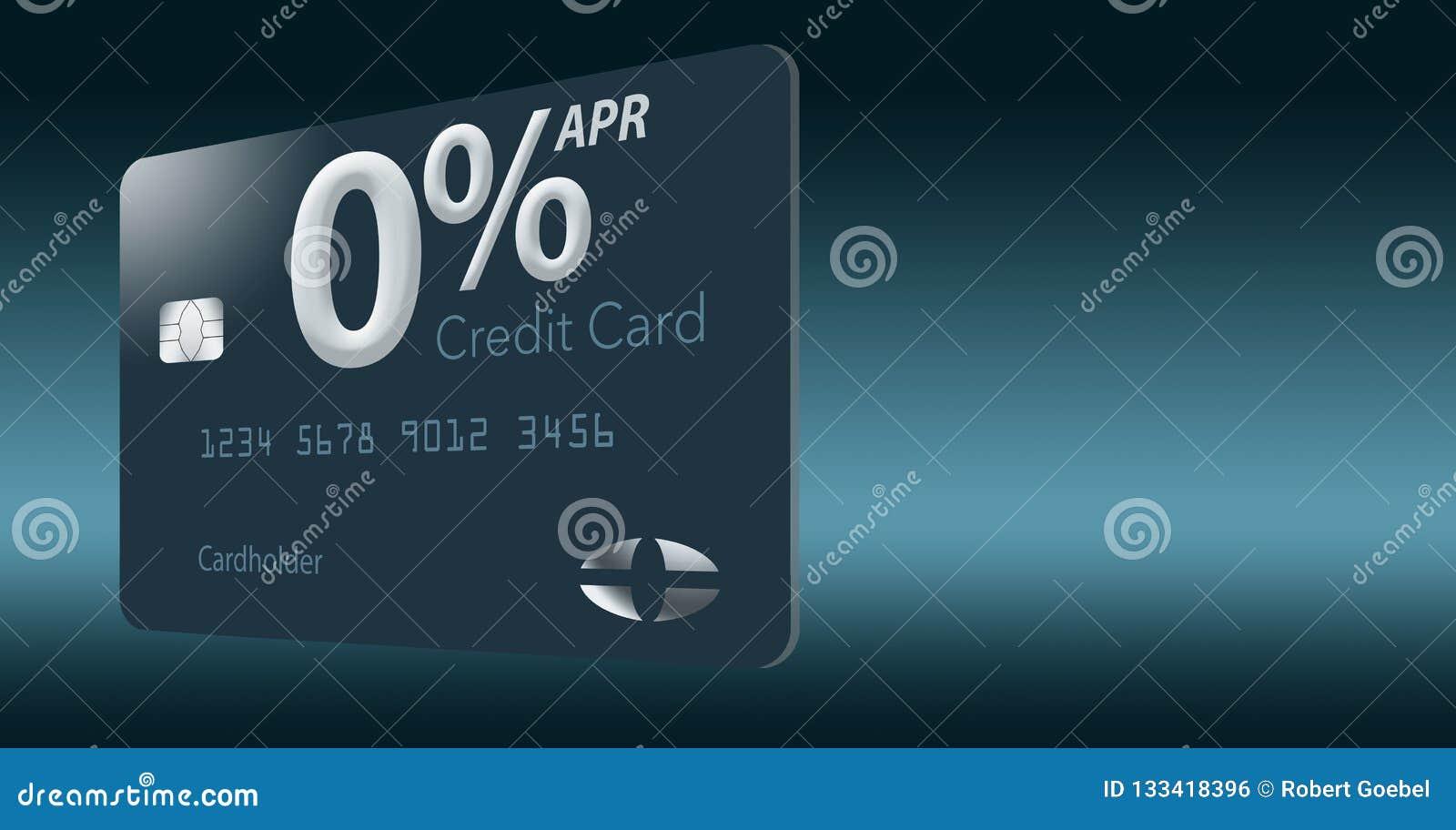 Muchas ofertas de la tarjeta de crédito ahora incluyen porcentaje anual del cero por ciento por 12-15 meses y esta tarjeta falsa