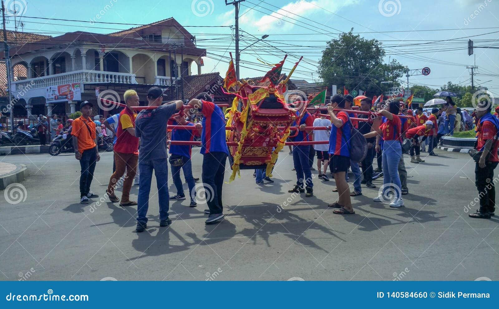 Muchedumbre china de la celebración de días festivos del Año Nuevo