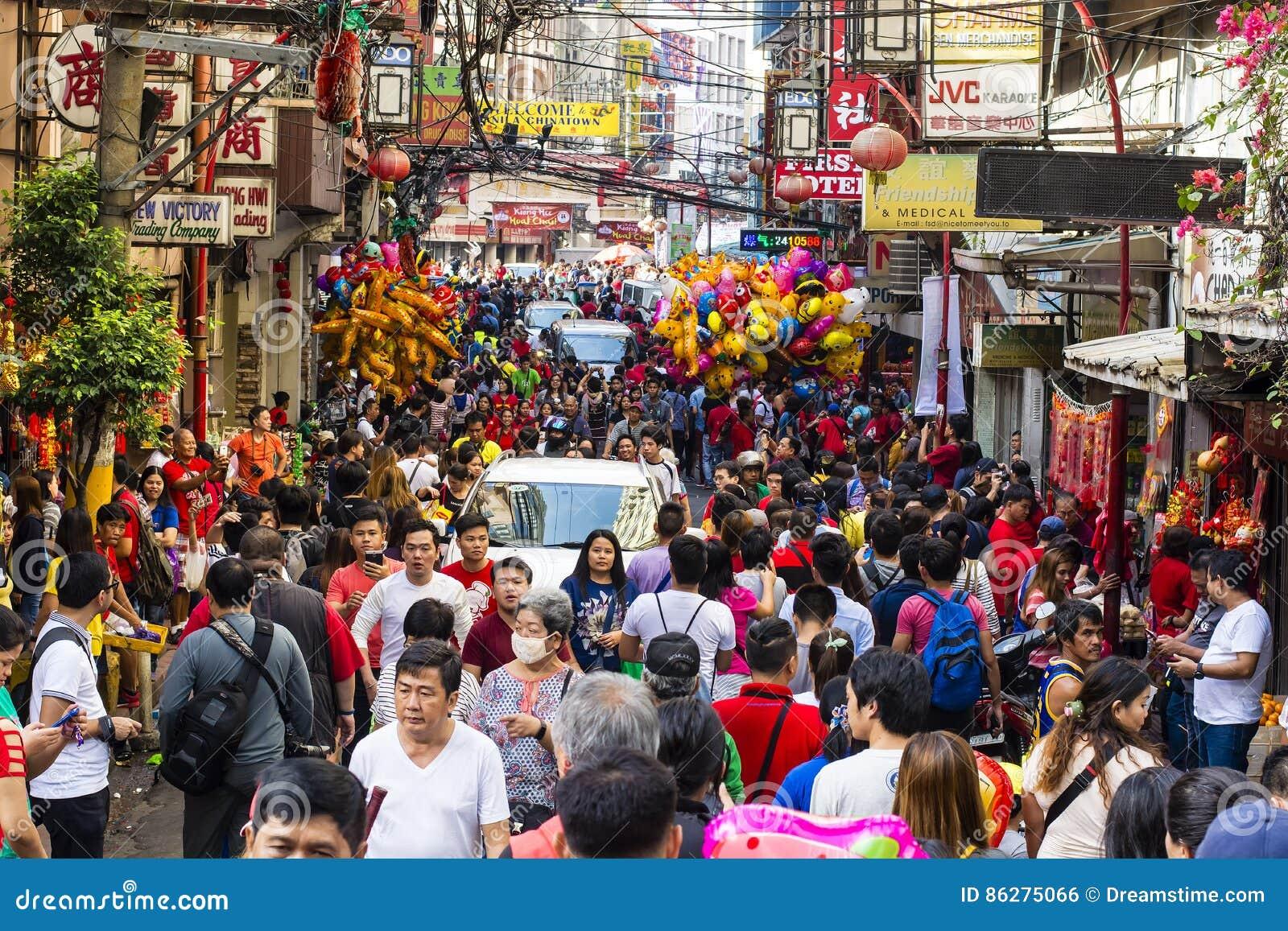Muchedumbre china del Año Nuevo