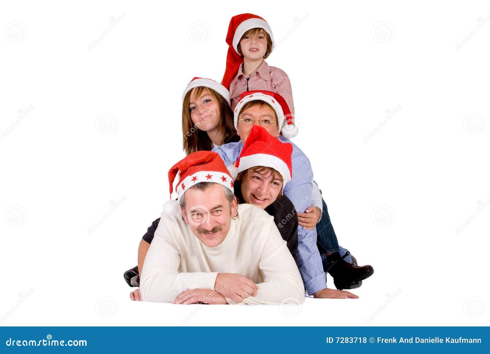 Muchedumbre de la feliz Navidad