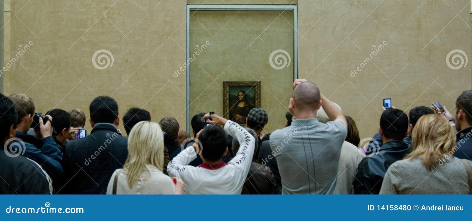 Muchedumbre de Mona Lisa