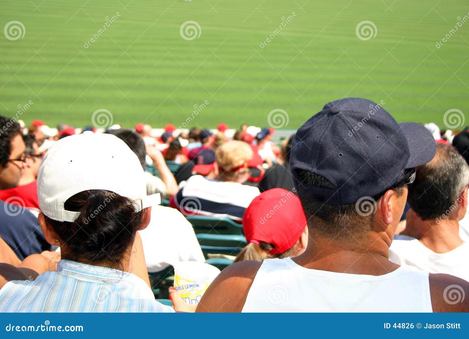Download Muchedumbre del béisbol foto de archivo. Imagen de gente - 44826