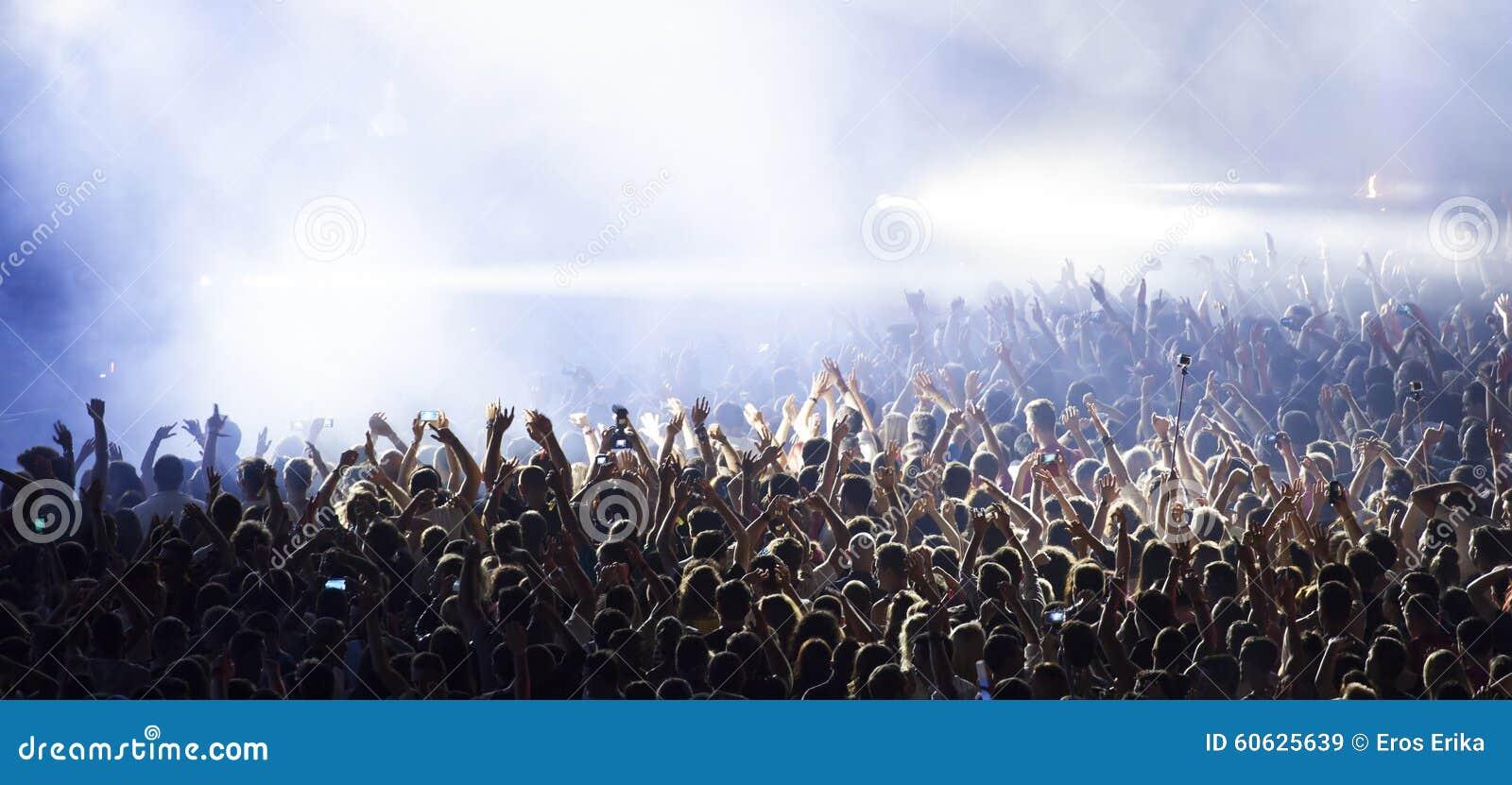 Muchedumbre en el concierto