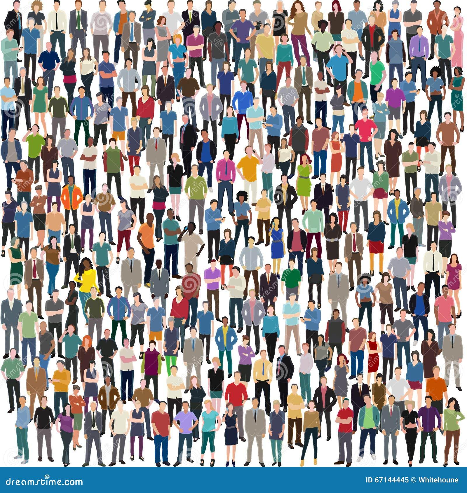 Muchedumbre enorme de gente
