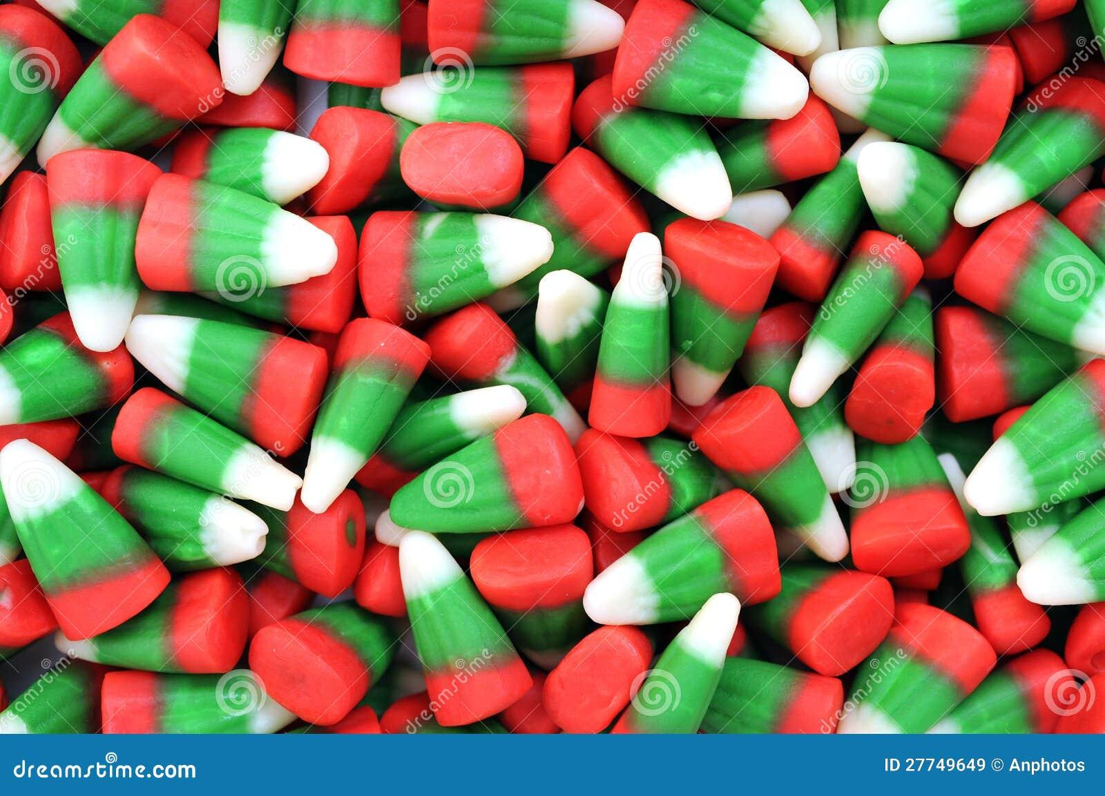 Muchos Caramelos Del Maíz De La Navidad Imagen de archivo - Imagen ...