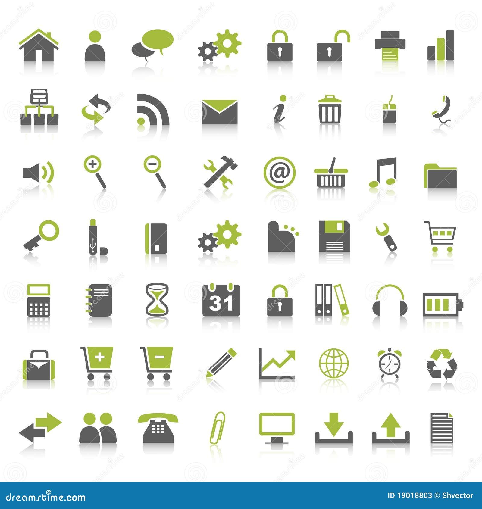 Muchos iconos del Web