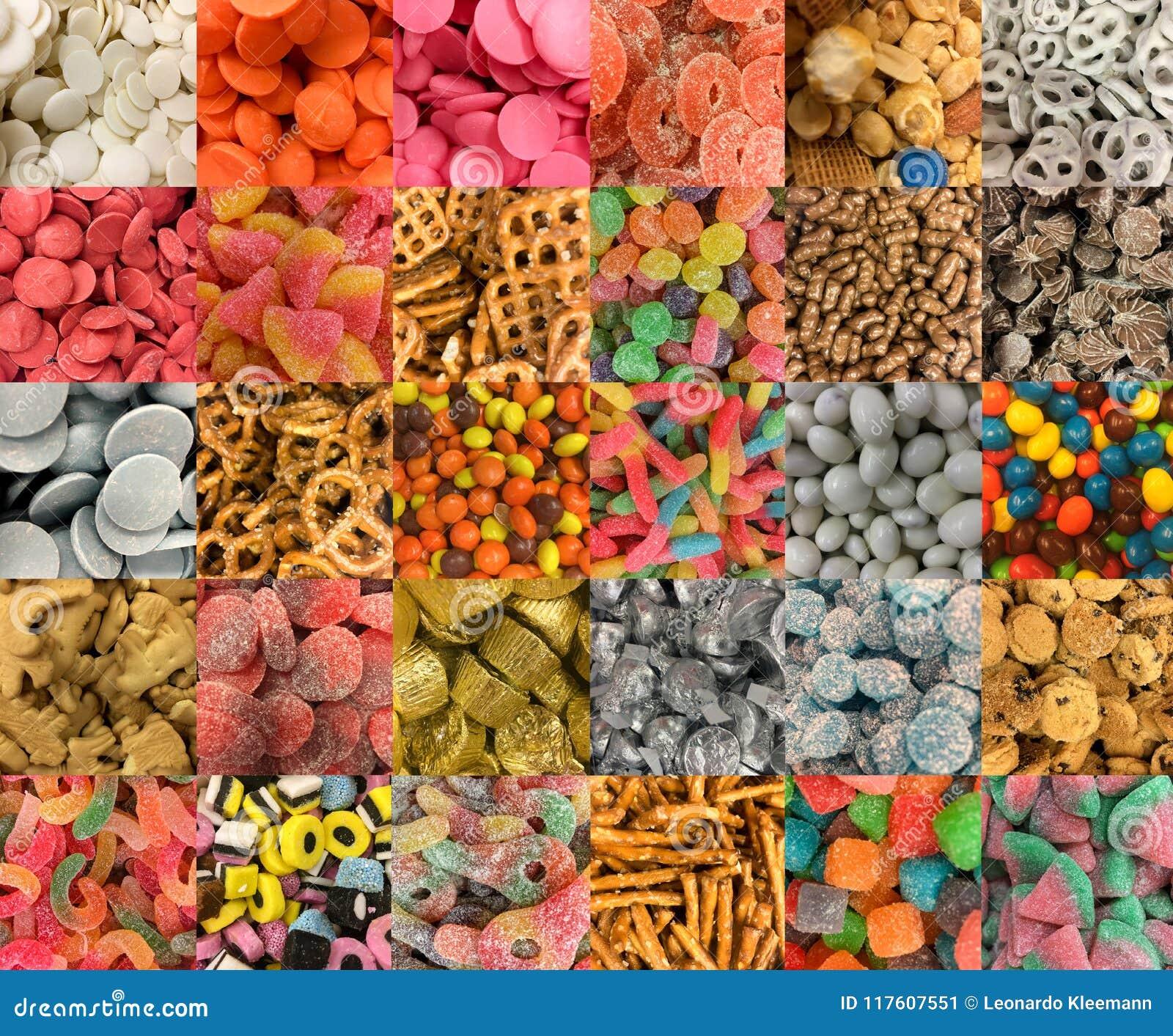 Muchos tipos de dulces