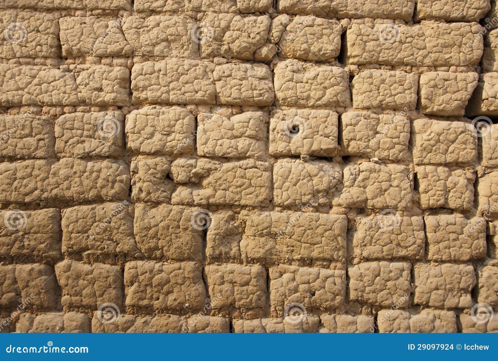 Mud Brick Wall Stock Photo Image Of Cement Decor Design