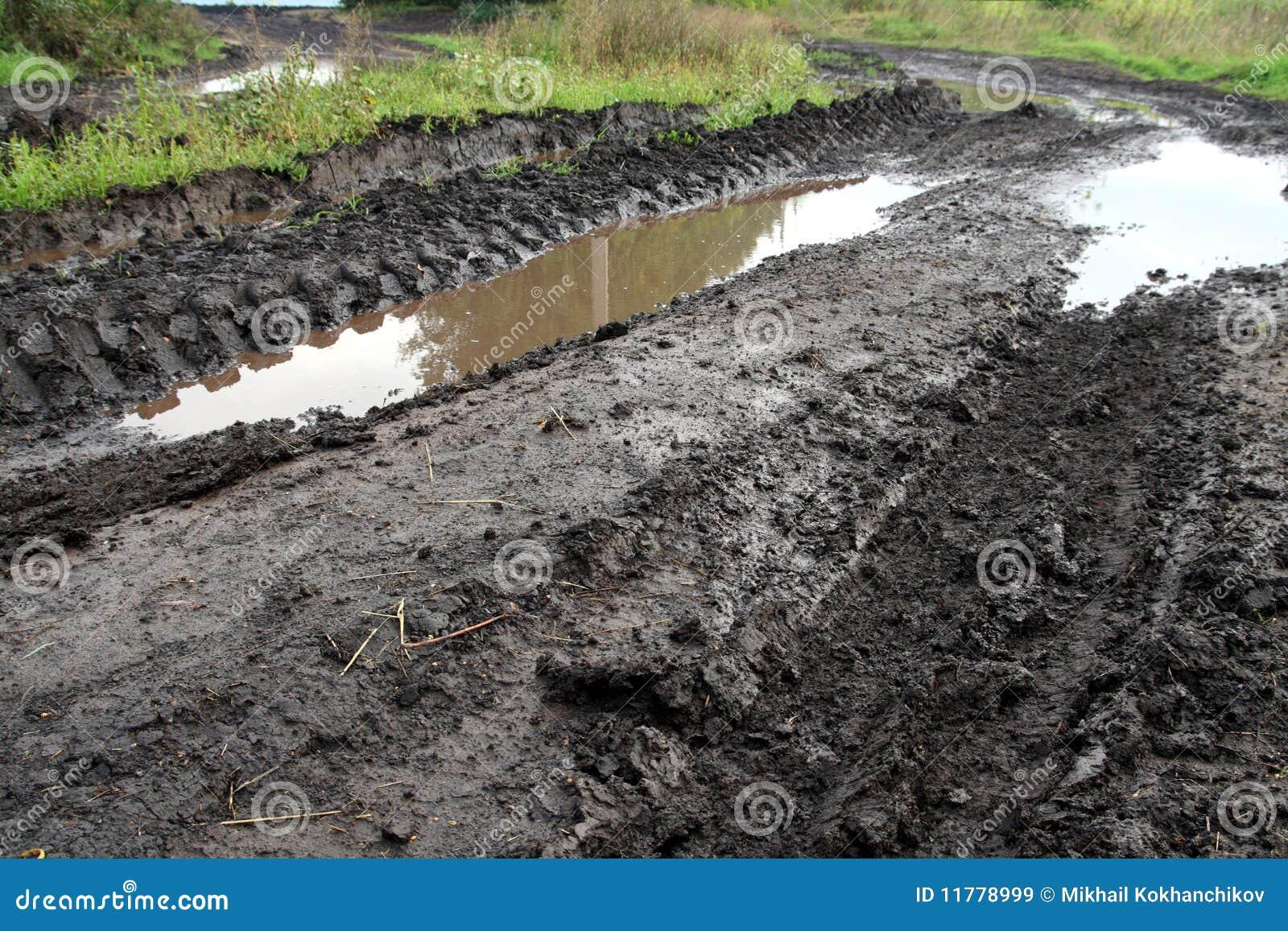 Mud dirty road