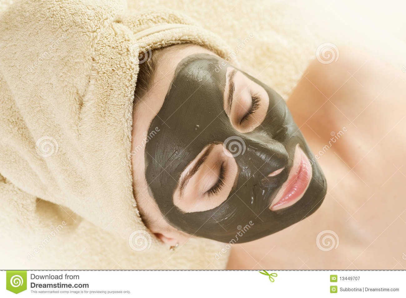 Mud Mask on the face.Spa.