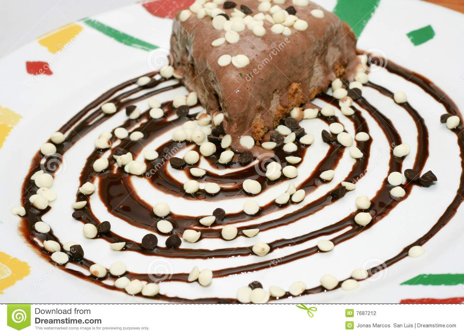 Mud pie stock photo. Image of white, dessert, chocolate - 7687212