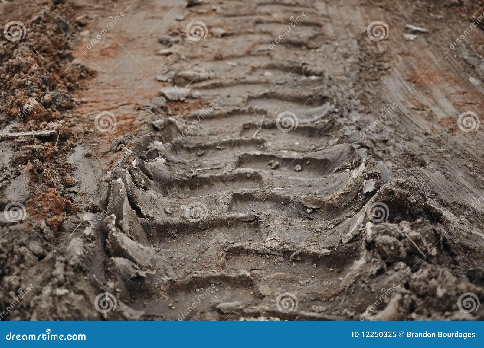 Mud Track Background Royalty Free Stock Photo - Image: 12250325