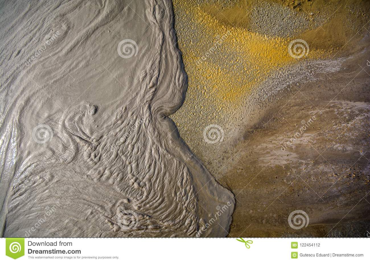 Mud volcano from Romania, detailed closeup of nature
