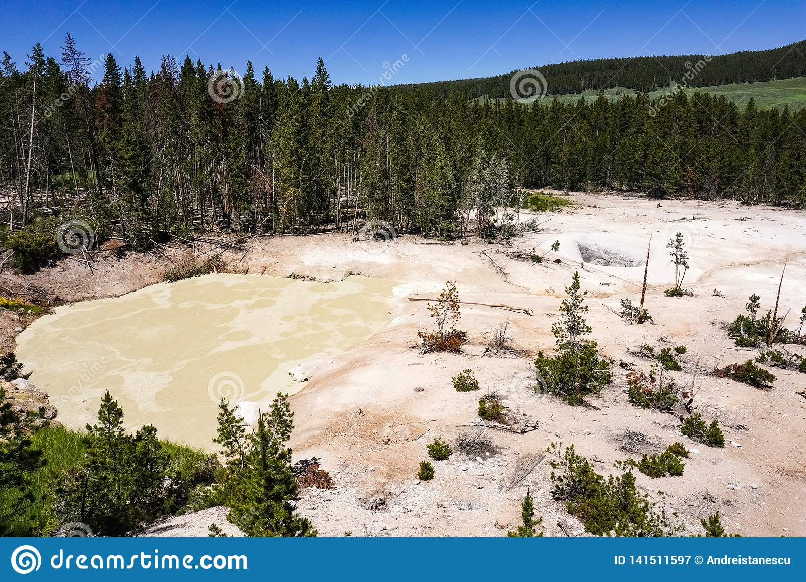 Mud Volcanoes pools, Yellowstone National Park