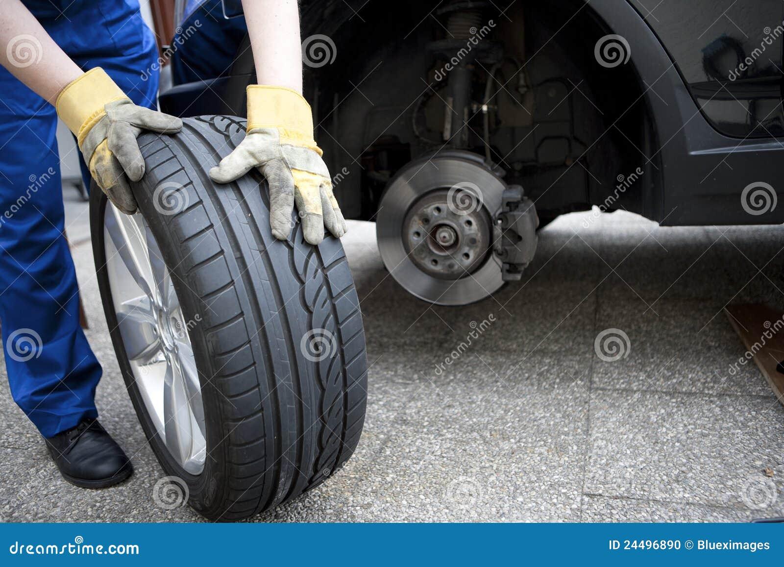Mudança dos pneumáticos
