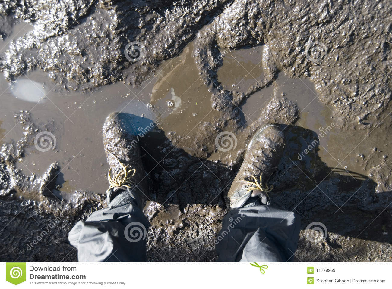 muddy boots royalty free stock images