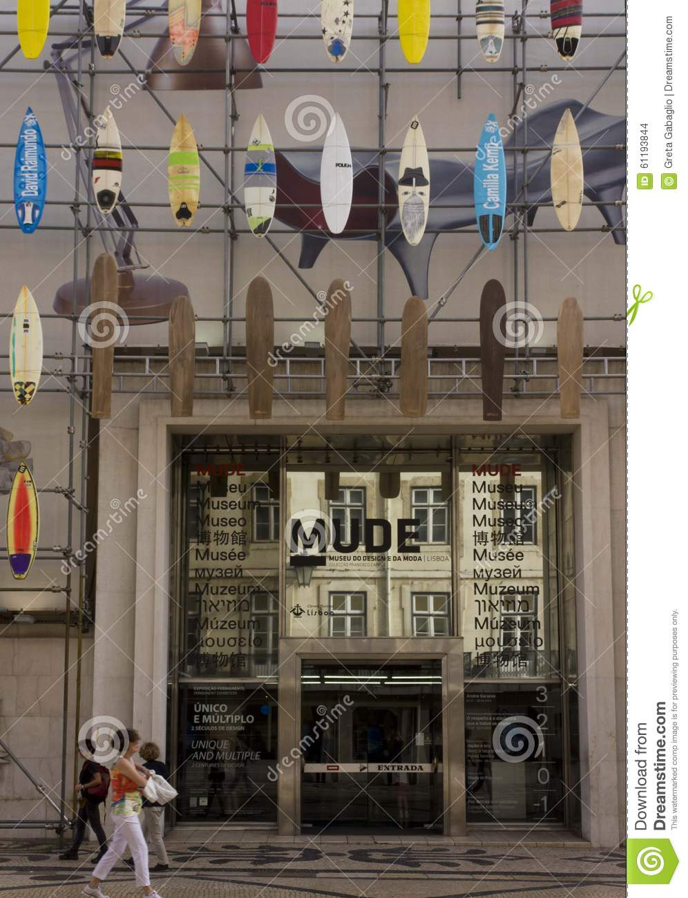 Mude Museum Of Fashion And Design In Lisbon Editorial Stock Image Image Of Surfboard October 61193844