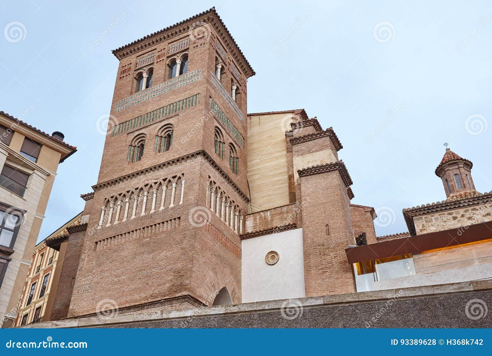Mudejar konst San Pedro torn Teruel Spanien arv Architectu