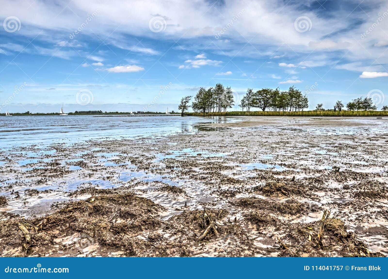 Mudflats van Tiengemeten-eiland