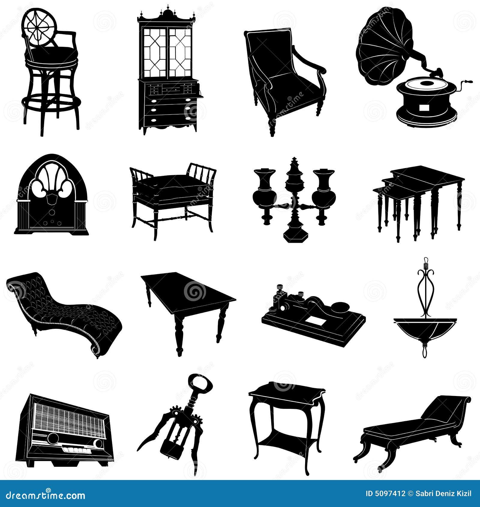 Muebles antiguos y objetos