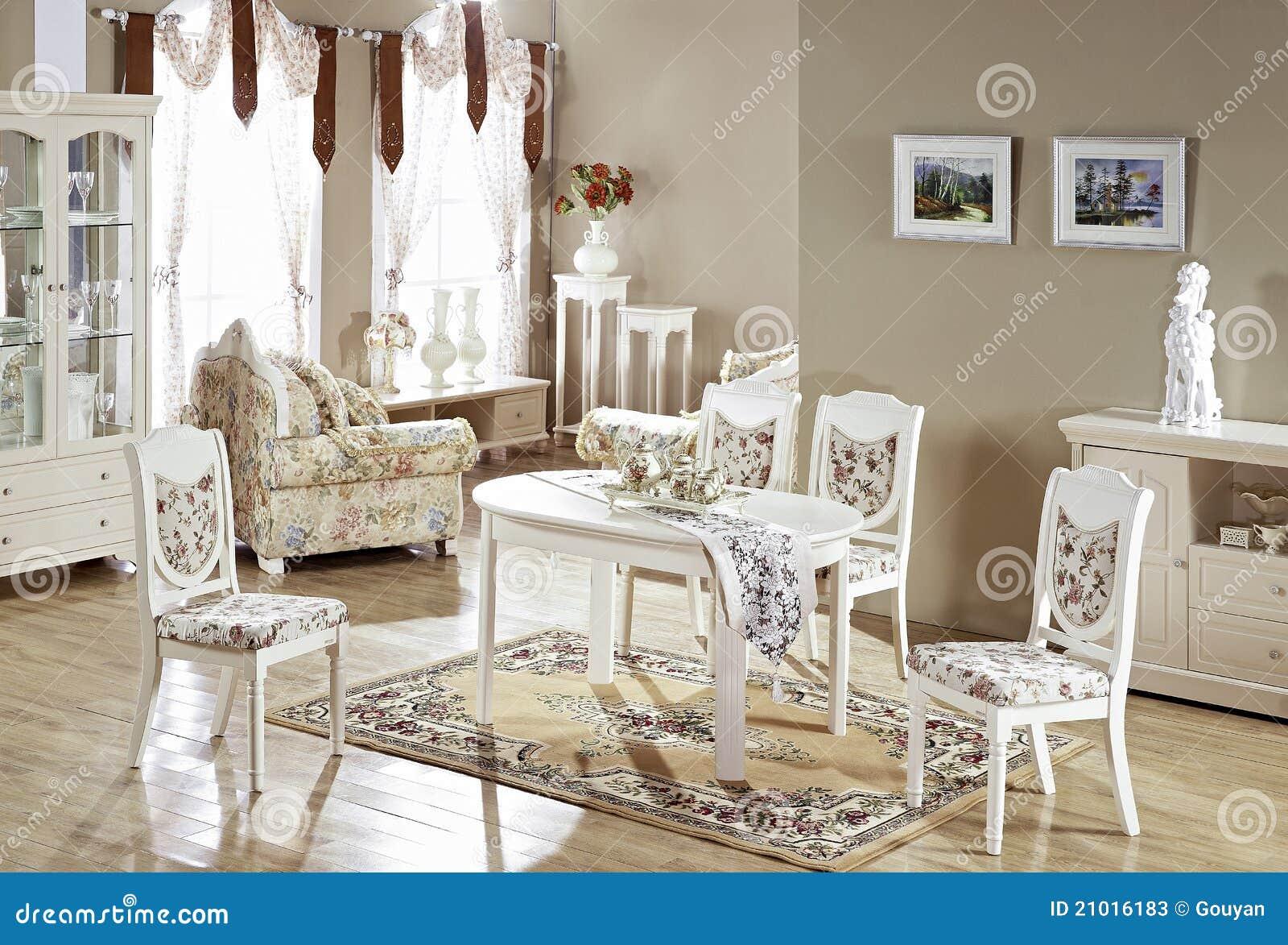 Muebles Blancos En Un Cuarto Imagen De Archivo Imagen De Sitio  # Muebles Blancos