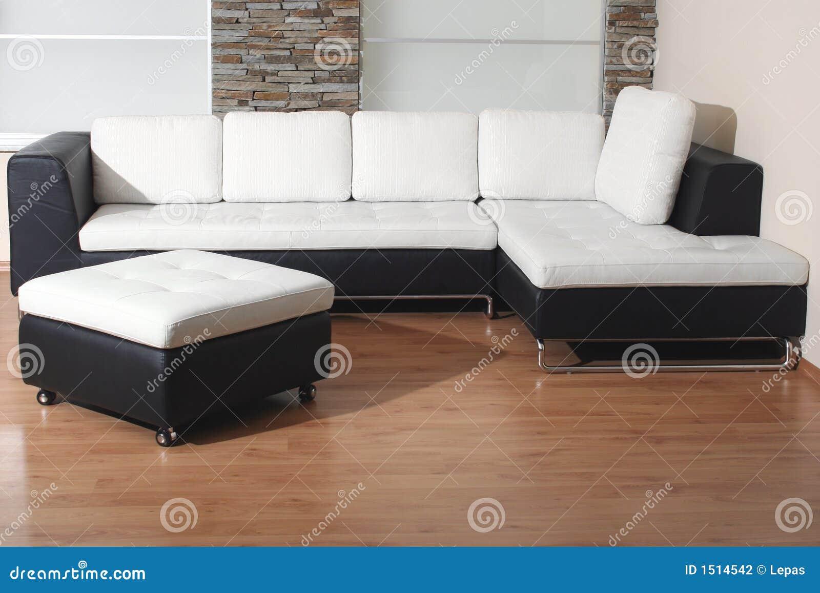 Muebles Blancos Y Negros Foto De Archivo Imagen De Muebles 1514542 # Muebles Otomanos
