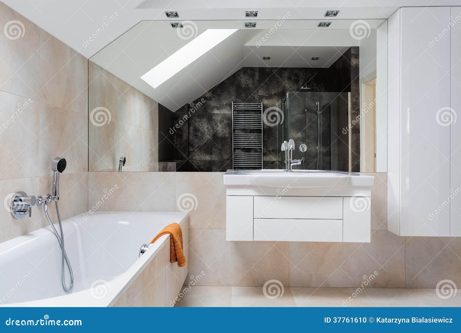 Muebles Brillantes Del Cuarto De Baño Del Diseño Foto de archivo ...