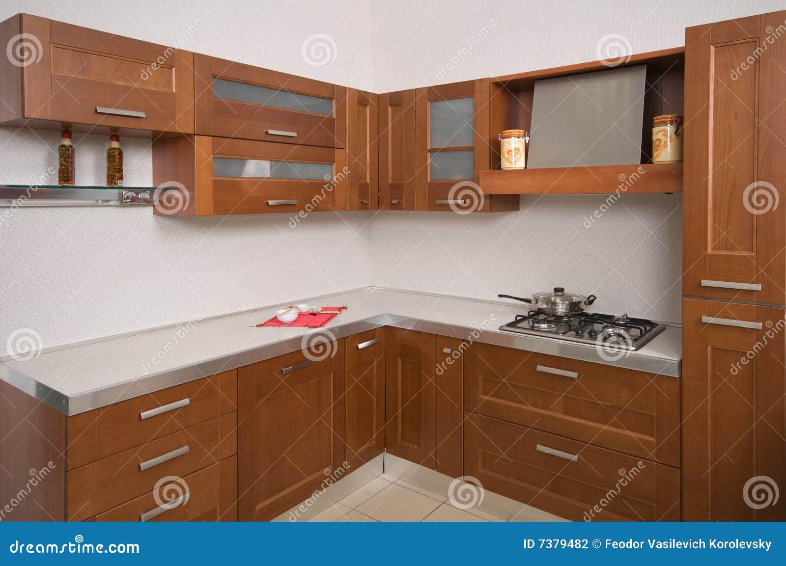 Muebles caseros de la cocina fotograf a de archivo for Muebles de cocina modernos precios