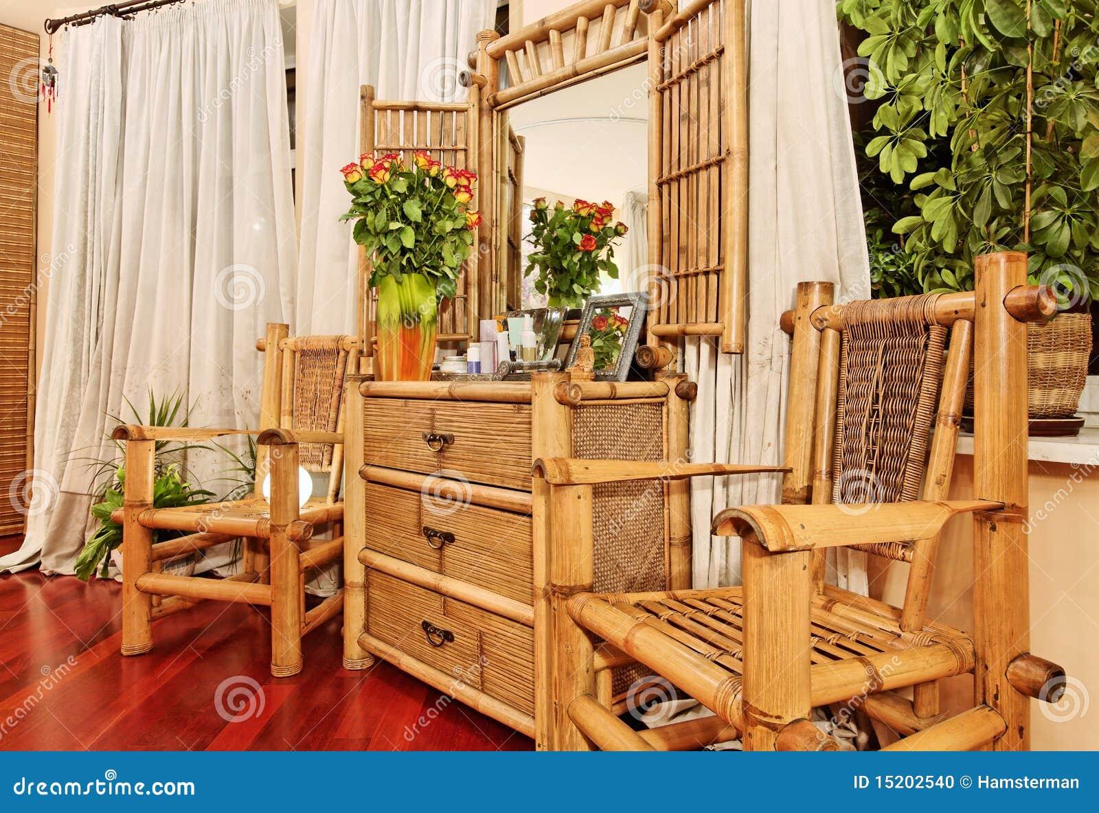 Muebles De Bamb Tnicos Foto De Archivo Imagen De Pecho 15202540 # Muebles Debambu