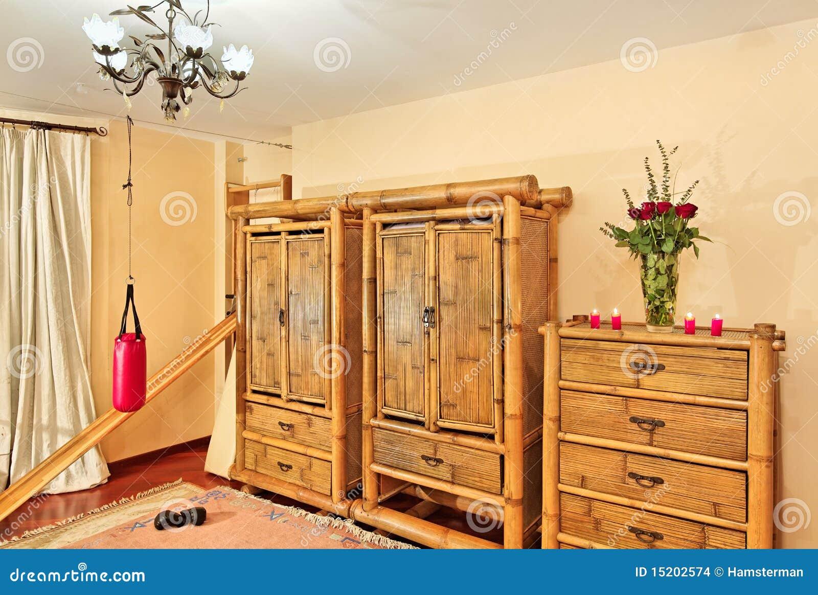 muebles de bamb tnicos imagenes de archivo