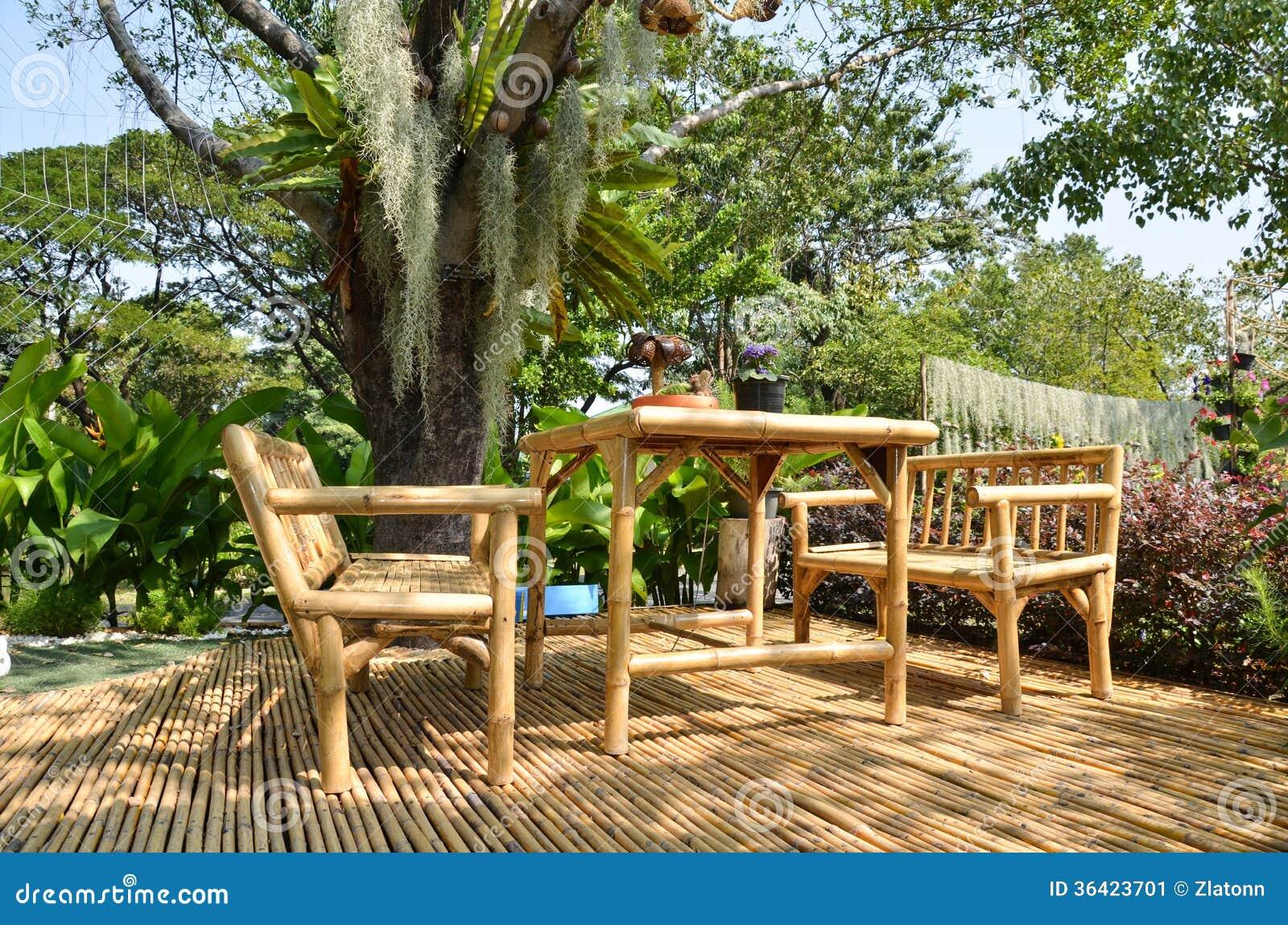 Muebles de bamb imagen de archivo imagen 36423701 - Muebles en bambu ...