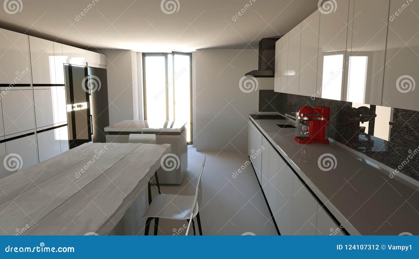 Muebles De La Cocina, Diseño Interior Muebles Y Dispositivos Para La ...
