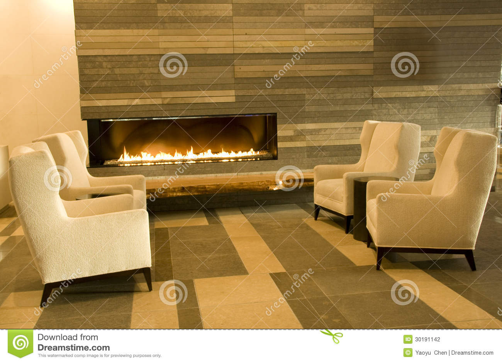 Sala de estar del pasillo del hotel fotograf a de archivo - La chimenea muebles ...