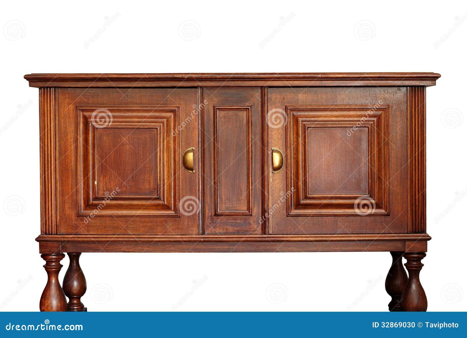 Muebles de madera antiguos sobre blanco foto de archivo - Muebles antiguos de madera ...