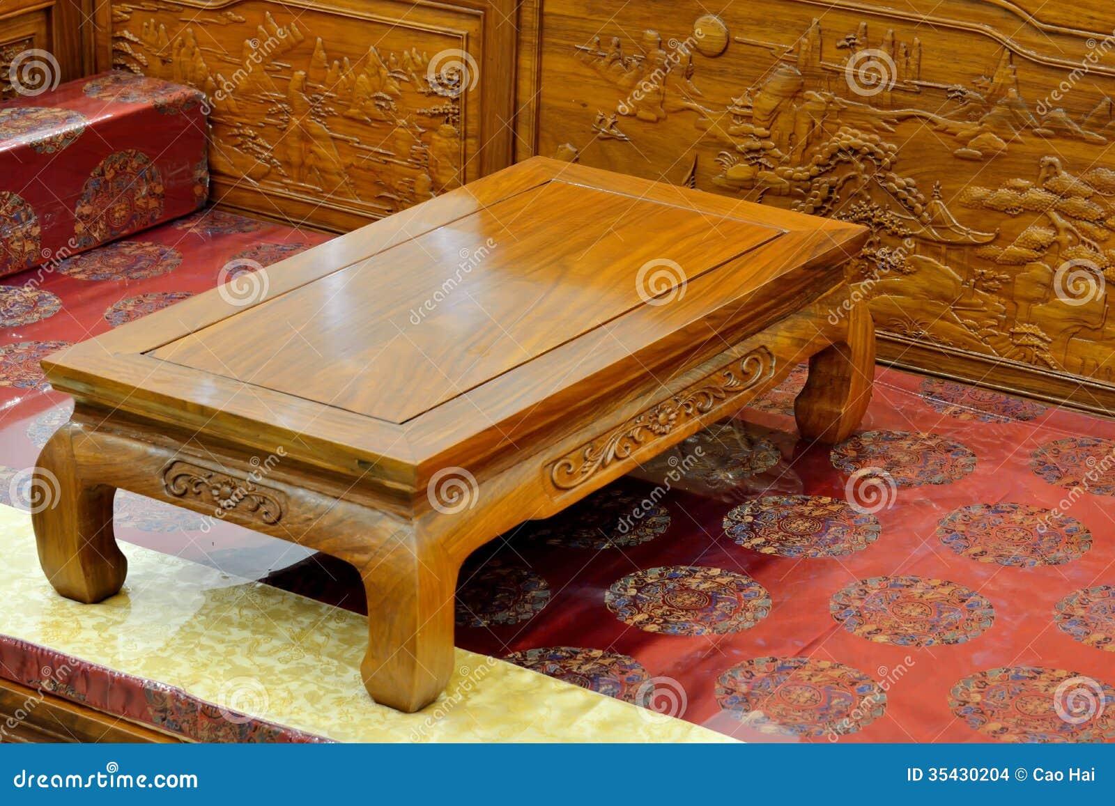 Muebles de madera en estilo oriental imagenes de archivo for Estilos de muebles de madera